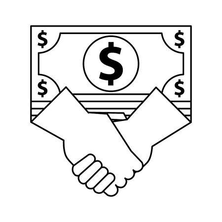 bills money bank note icon vector illustration design