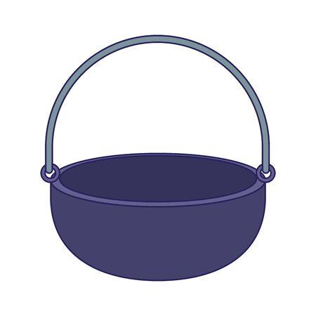 camping cauldron icon icon over white background, vector illustration