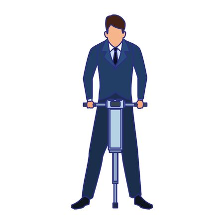 Businessman design, Man business management corporate job occupation and worker theme Vector illustration Ilustração