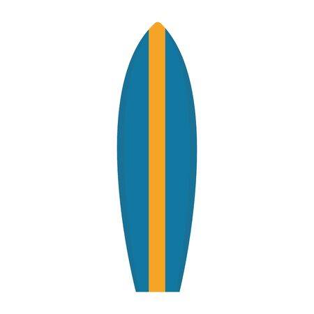 surfboard icon over white background, vector illustration