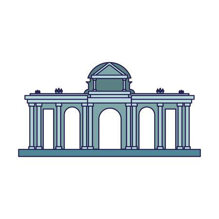 Alcala Gate Madrid icon over white background, vector illustration Фото со стока - 138424644