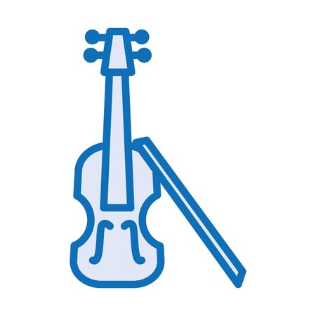 fiddle musical instrument isolated icon vector illustration design