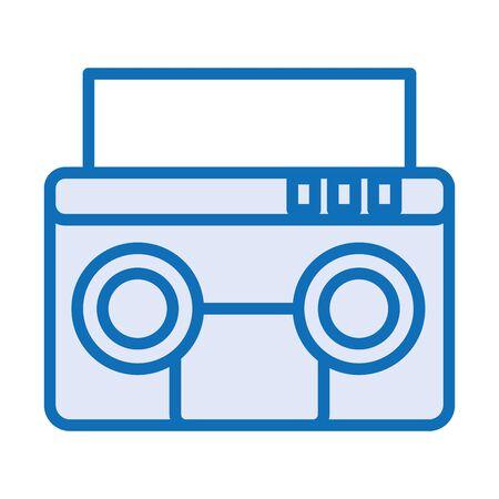 radio music player isolated icon vector illustration design Ilustrace