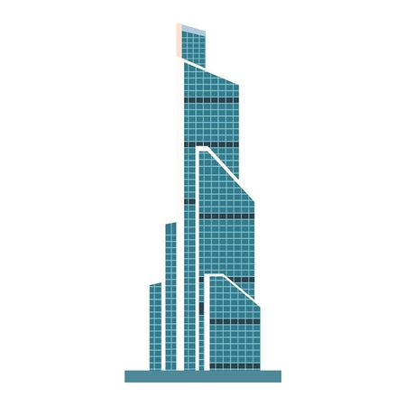 modern city building icon over white background, vector illustration Иллюстрация