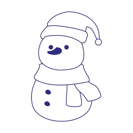 christmas snowman icon over white background, vector illustration Zdjęcie Seryjne - 138431984