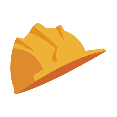 safety helmet icon over white background, vector illustration Foto de archivo - 138432211