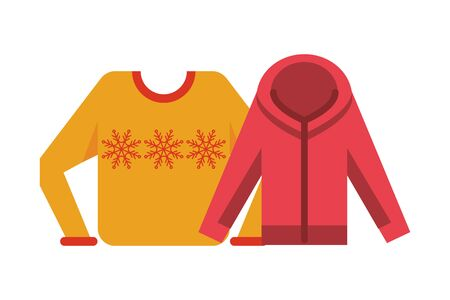 winter sweater coat seasonal wear vector illustration design 스톡 콘텐츠 - 138432405