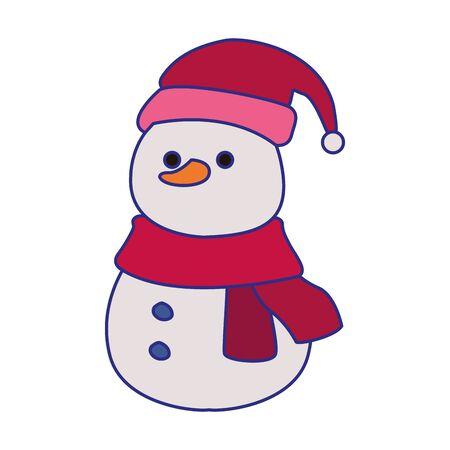 christmas snowman icon over white background, vector illustration Ilustracja