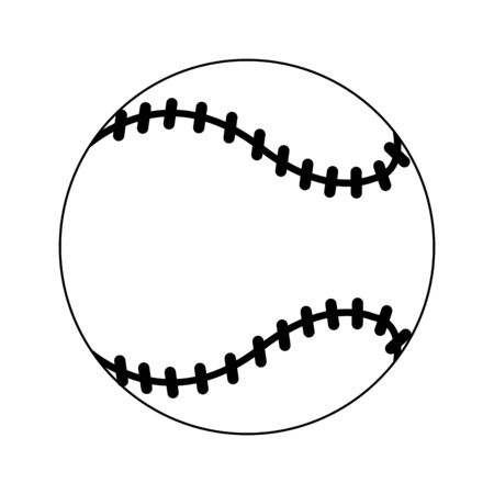 Baseball ball cartoon isolated Design