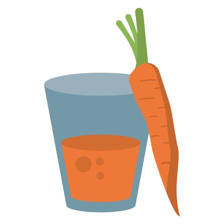 carrot juice cup cartoon isolated vector illustration graphic design Zdjęcie Seryjne - 138458823