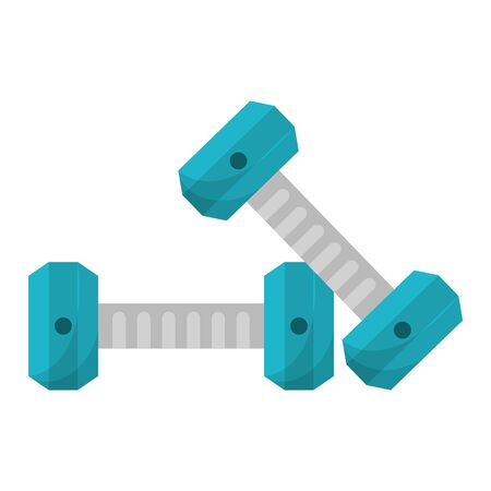Dumbbells gym equipment isolated vector illustration graphic design Ilustrace