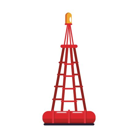 marine buoy icon over white background, vector illustration