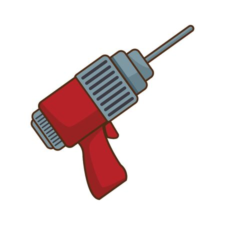 drill tool icon over white background, vector illustration