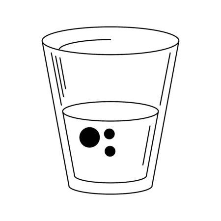 Water glass cup symbol vector illustration graphic design Archivio Fotografico - 138459002