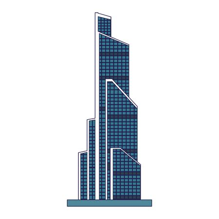 modern city building icon over white background, vector illustration Фото со стока - 138457620