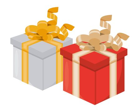 gifts boxes presents isolated icons vector illustration design Banque d'images - 138461475