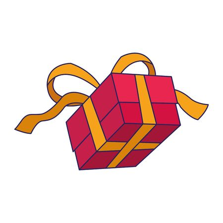 gift box icon over white background, vector illustration Foto de archivo - 138476993