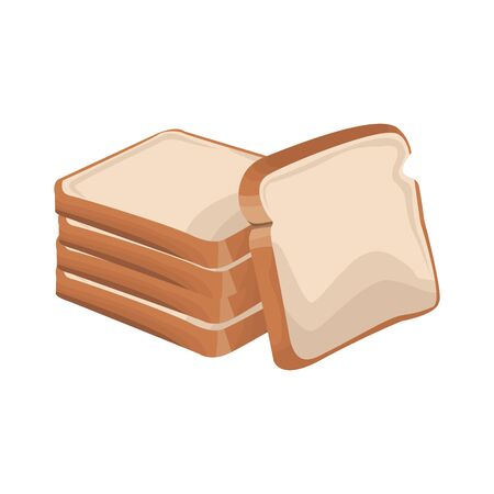 loafs icon over white background, vector illustration