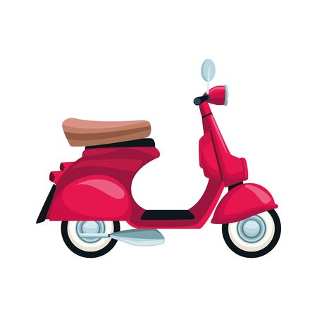 classic motorcycle icon over white background, vector illustration Ilustração