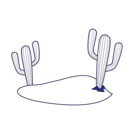 Cactus design, Plant desert nature tropical summer mexico and western theme Vector illustration Illustration