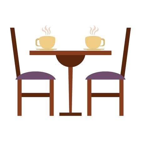 restaurant food and cuisine coffee cup over a restarurant table icon cartoons vector illustration graphic design