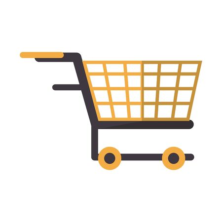 shopping commerce business sales, sotre cart cartoon vector illustration graphic design