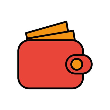 wallet money economy isolated icon vector illustration design Ilustrace