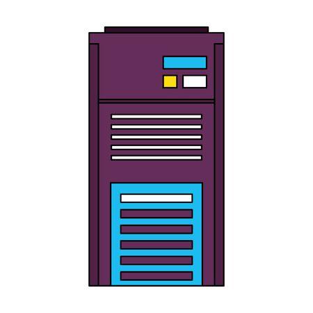 server tower network hardware technology cartoon vector illustration graphic design Illusztráció