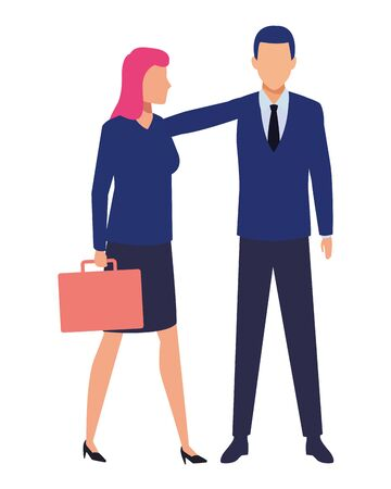 business business people businesswoman carrying a briefcase avatar cartoon character vector illustration graphic design