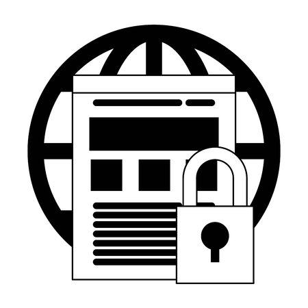 Business technology and security system symbols vector illustration graphic design