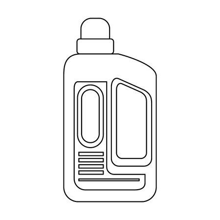 Disinfectant soap bottles with dispenser isoalted symbol vector illustration graphic design.