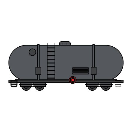 Fuel truck tank transportation icon isolated vector illustration graphic design Illusztráció