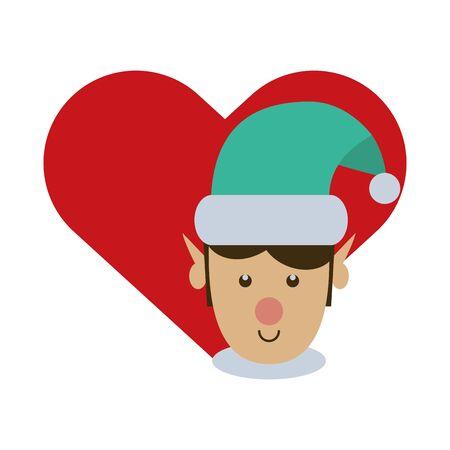 cute santa helper christmas character vector illustration design Ilustrace