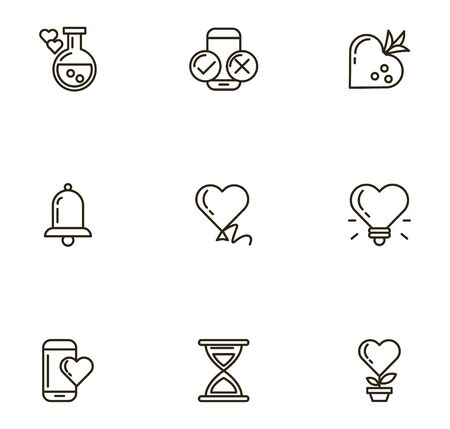 bundle of valentines day icons vector illustration design Ilustrace