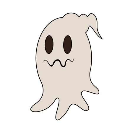 halloween october scary celebration ghost isolated cartoon vector illustration graphic design Ilustrace