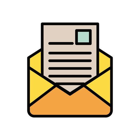 envelope mail postal service icon vector illustration design