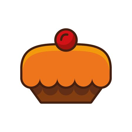 sweet pie pastry isolated icon vector illustration design