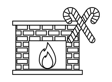 merry christmas house chimney icon vector illustration design