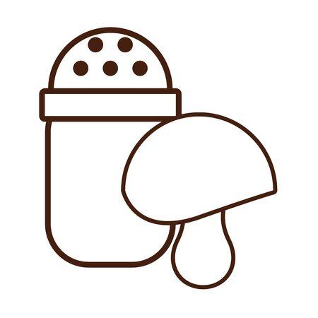 salt shaker utensil isolated icon vector illustration design