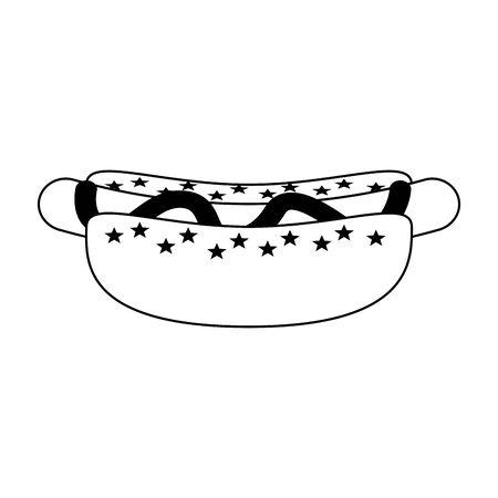 fast food hot dog cartoon vector illustration graphic design