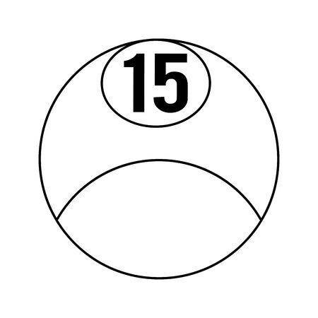 billiard ball icon over white background, vector illustration