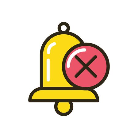 bell sound alert isolated icon vector illustration design