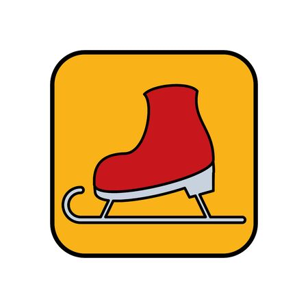 snow skate sport isolated icon vector illustration design