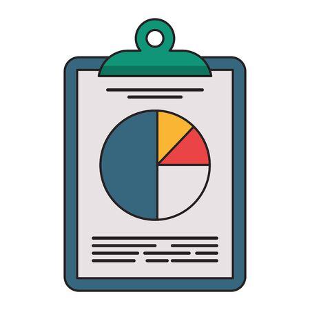 Business profit statistics on clipboard symbol vector illustration graphic design