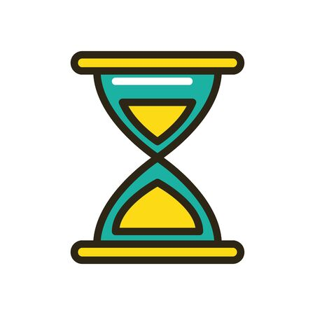 sand hourglass device isolated icon vector illustration design