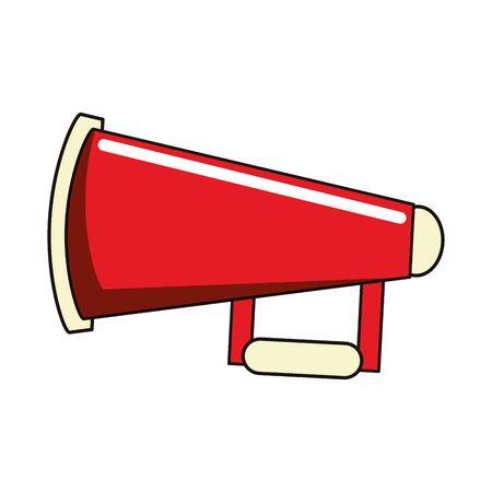 American football horn cartoon isolated vector illustration graphic design