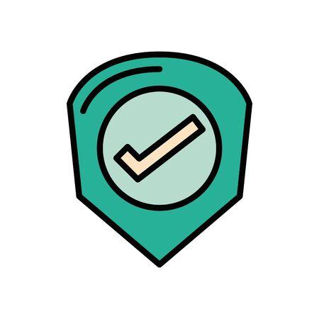 check symbol like isolated icon vector illustration design Stock Illustratie