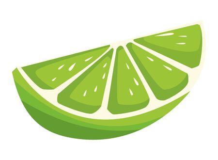 slide of lemon icon cartoon vector illustration graphic design