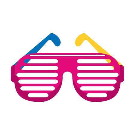 retro glasses icon over white background, vector illustration
