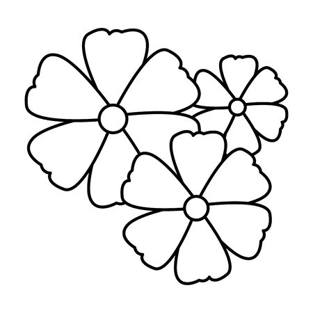 flower icon cartoon in black and white vector illustration graphic design